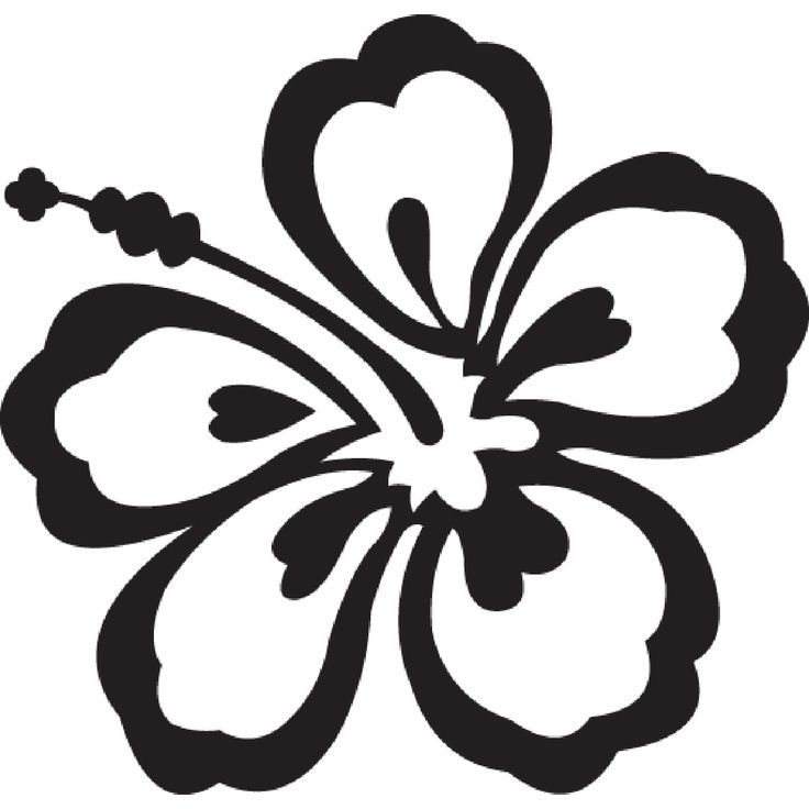 hawaii clip art black and white