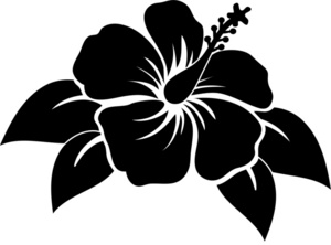 Hawaii clip art silhouette.