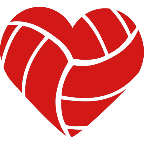 volleyball clipart red
