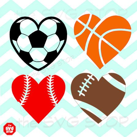 fottbal clipart heart