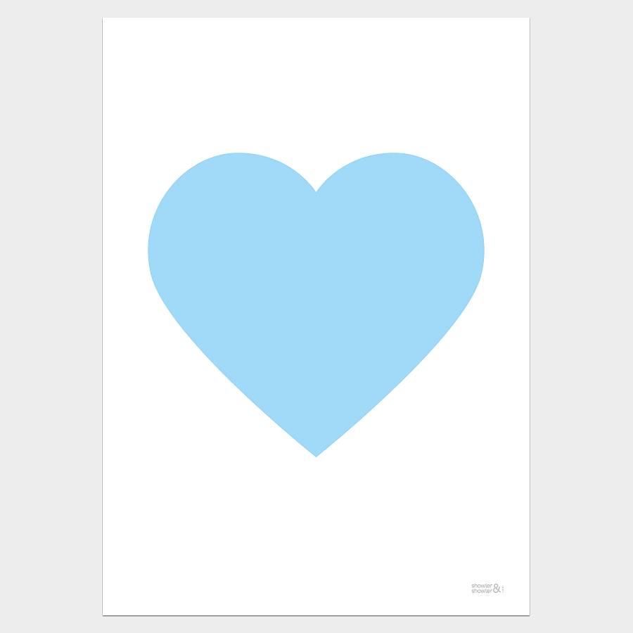 Hearts clipart light blue.