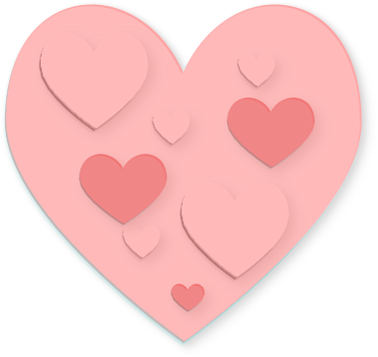 Hearts clipart pink.