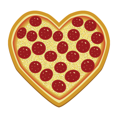 pizza clipart heart