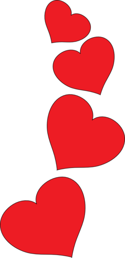 free heart clipart red
