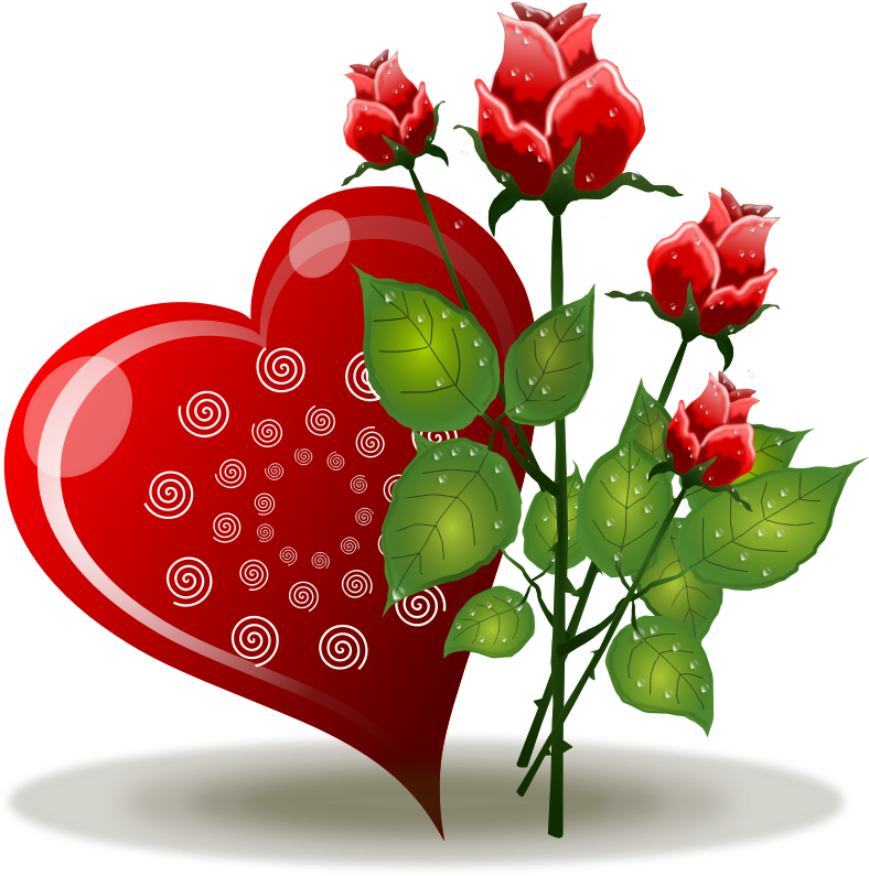 Hearts clipart rose.