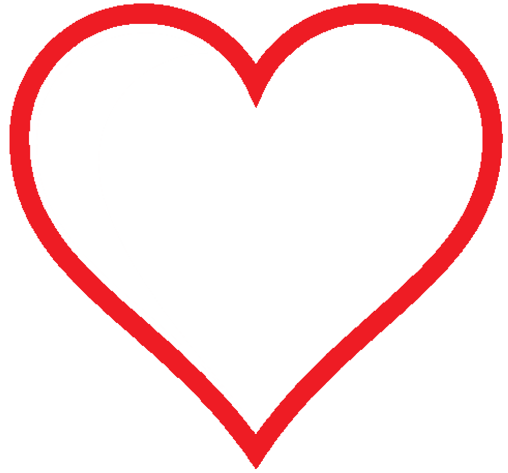 clipart heart red