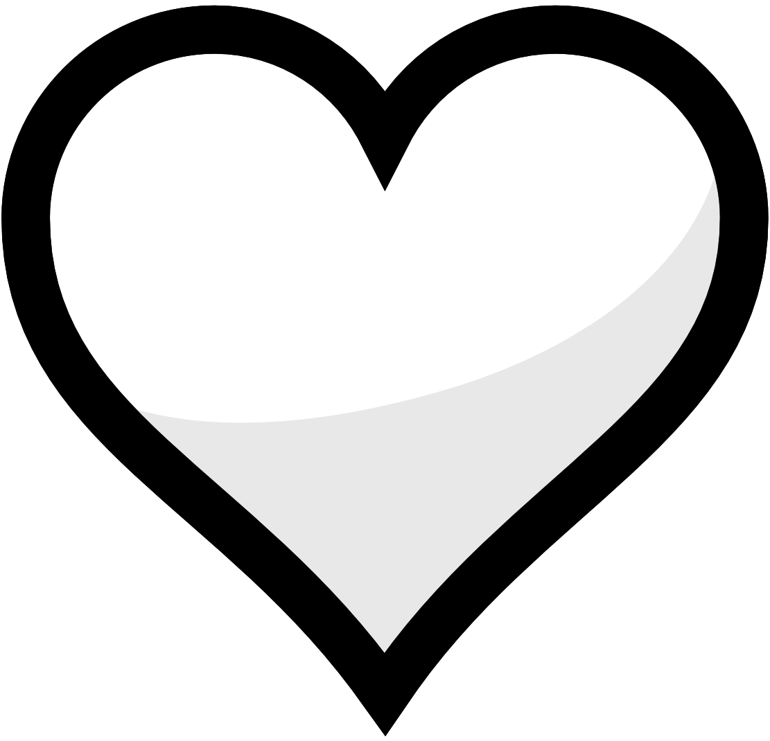 Hearts clipart sign.
