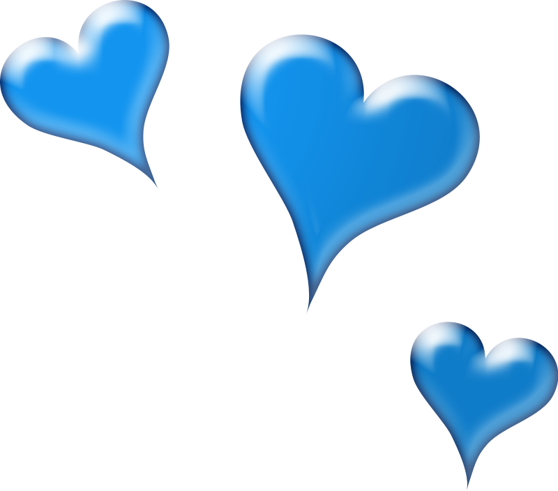 free heart clipart blue