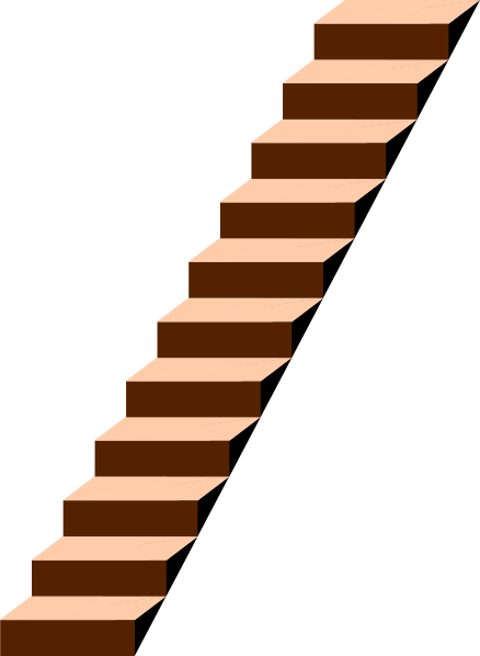 steps clipart wood stair