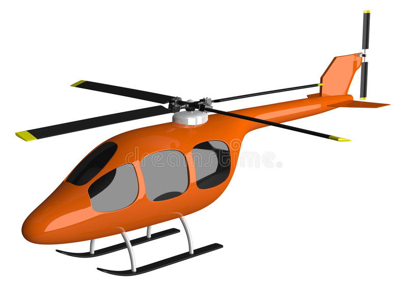 helicopter clipart orange