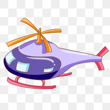 helicopter clipart purple