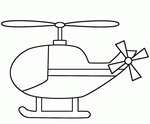 helicopter clipart coloring