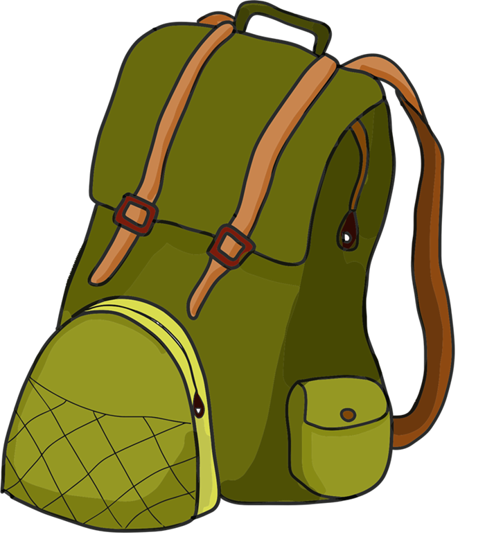 backpack clipart side view