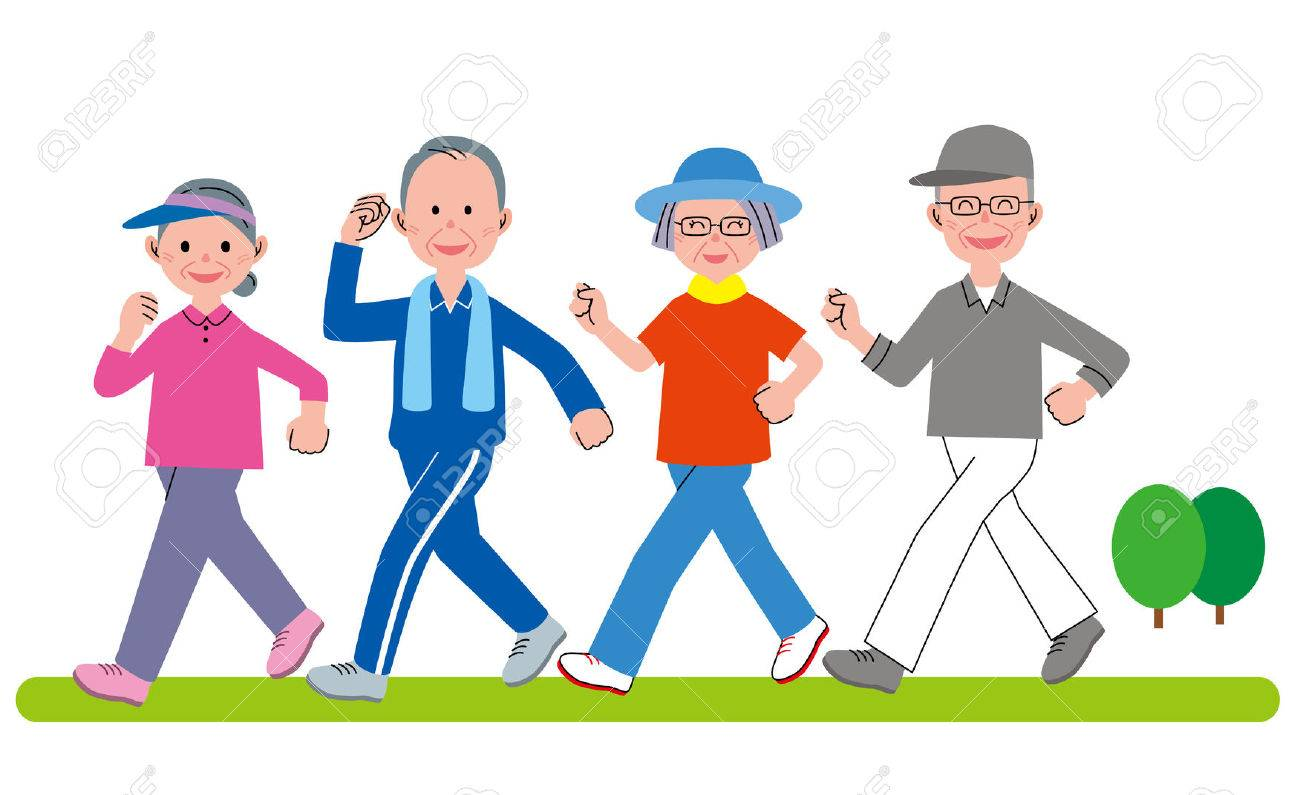 walking clipart group