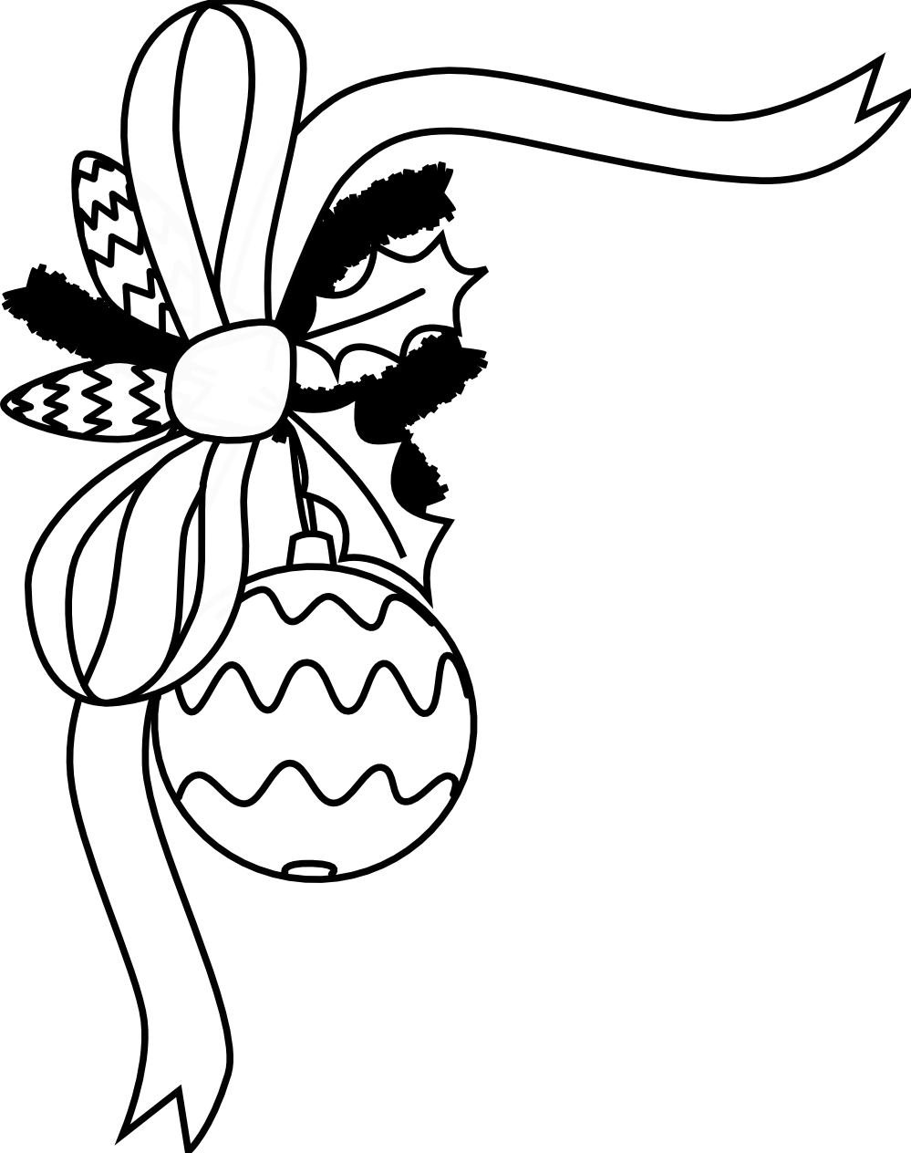 christmas clipart black and white printable