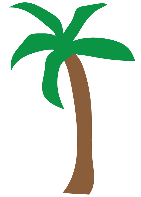 palm trees clipart simple