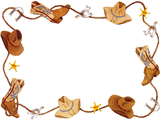 western clipart cowboy party