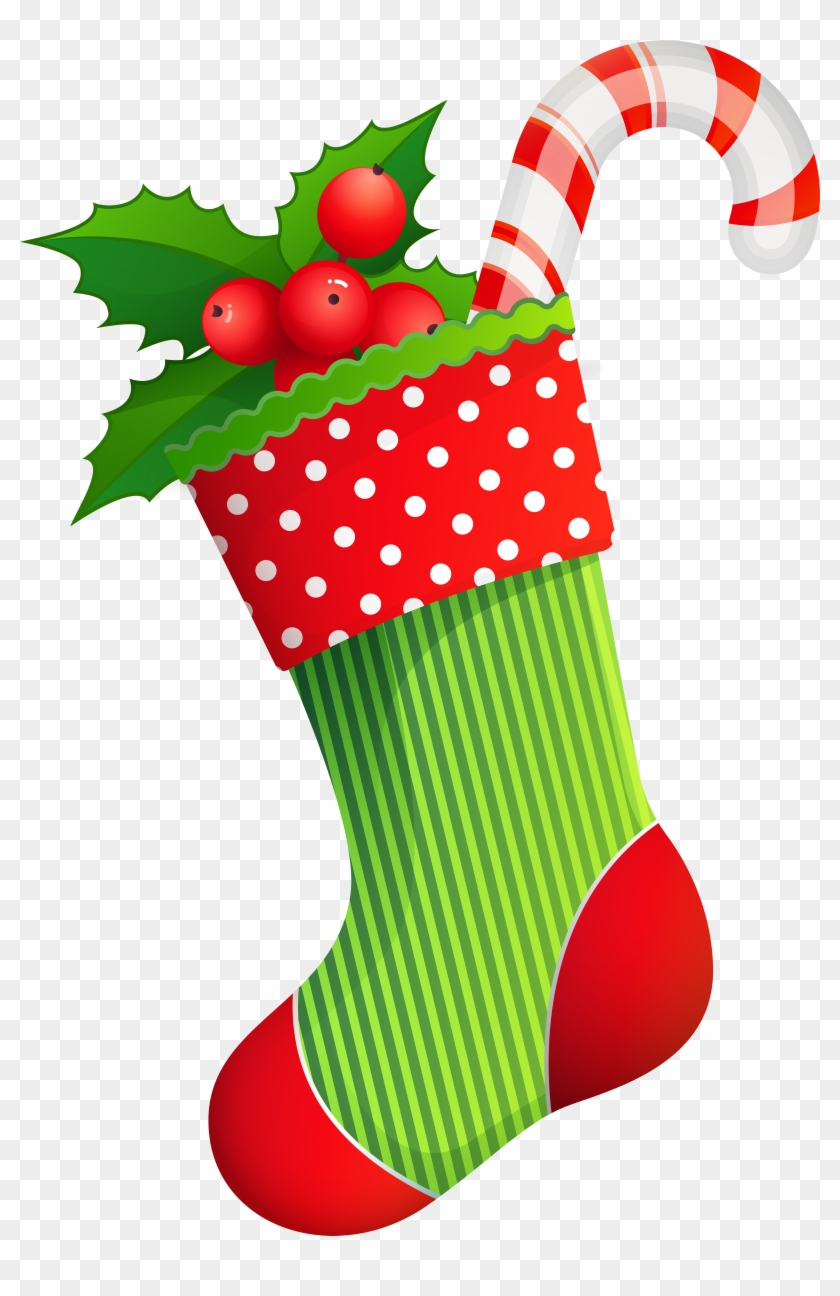 christmas stocking clipart green