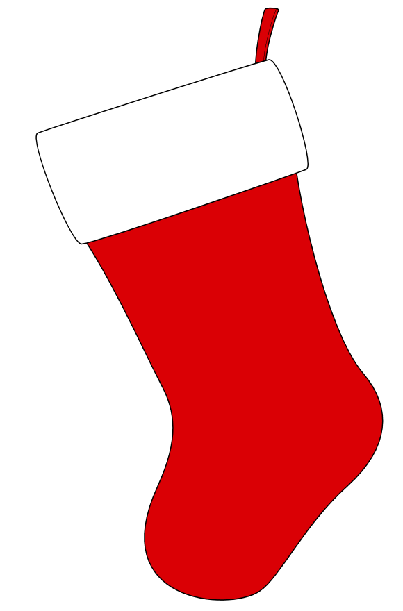 christmas stocking clipart colorful