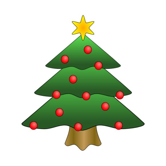 christmas tree clipart red