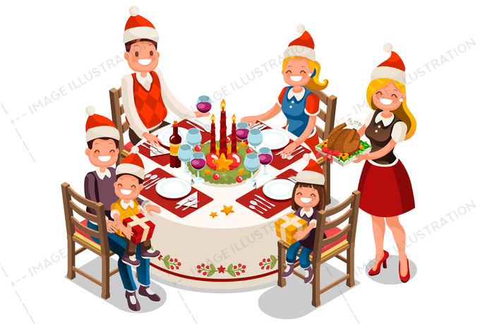 Christmas party clipart father.