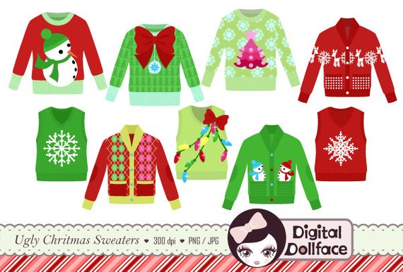 ugly christmas sweater clipart background