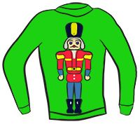 ugly christmas sweater clipart gingerbread man