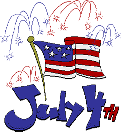 happy 4th of july clipart animated
