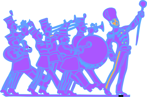 marching band clipart vector