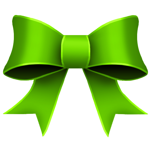 bow clipart green