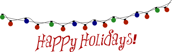 happy holidays clipart email signature