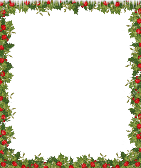 holiday border clipart transparent background