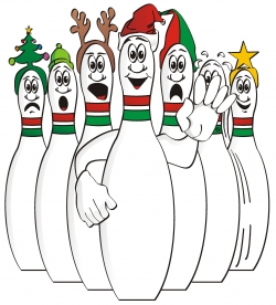bowling clipart christmas