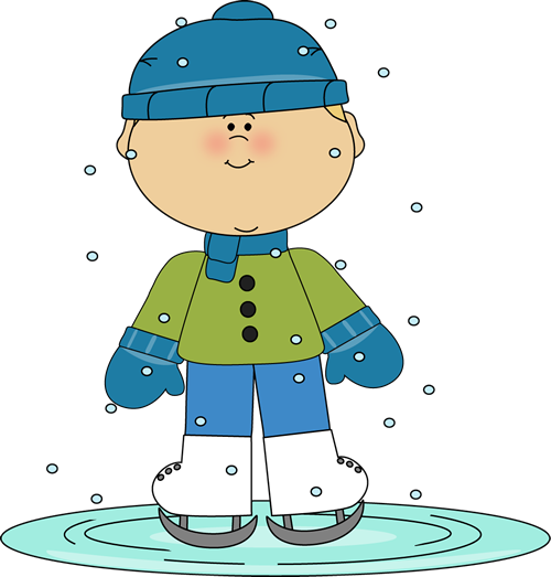 Winter clipart boy.