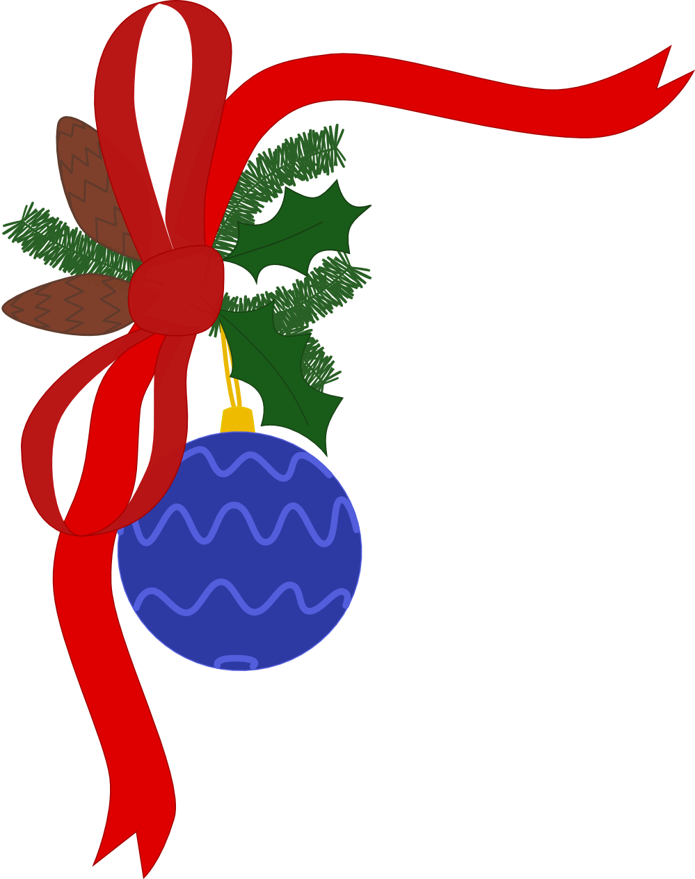 holly clipart holiday