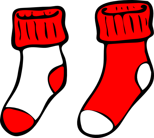 sock clipart vector