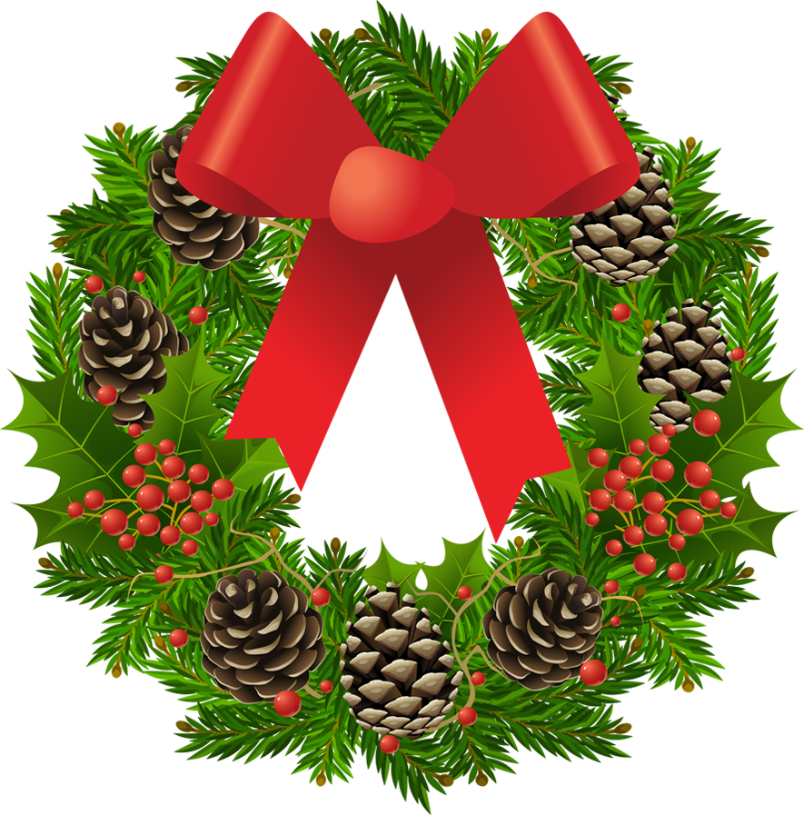 Christmas wreath clipart.