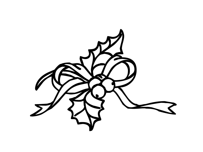 Holly clipart white.