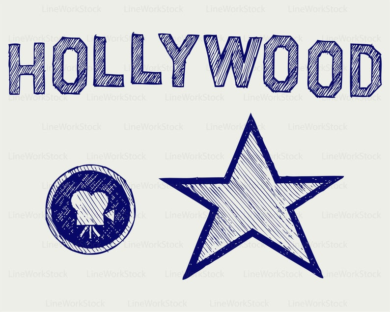 Hollywood clipart silhouette.