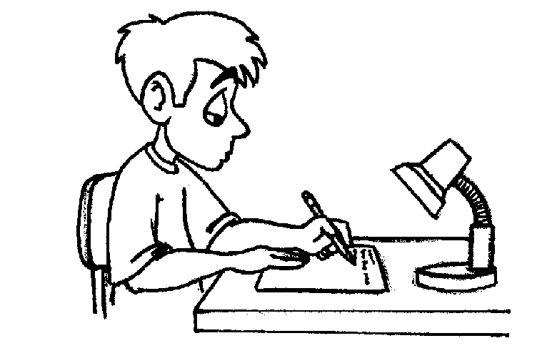 kids clipart black and white writing