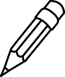 clipart pencil white