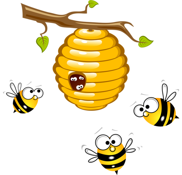 beehive clipart hanging