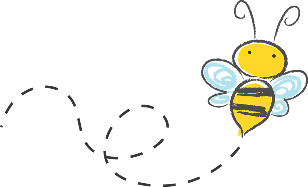 clipart writing bee