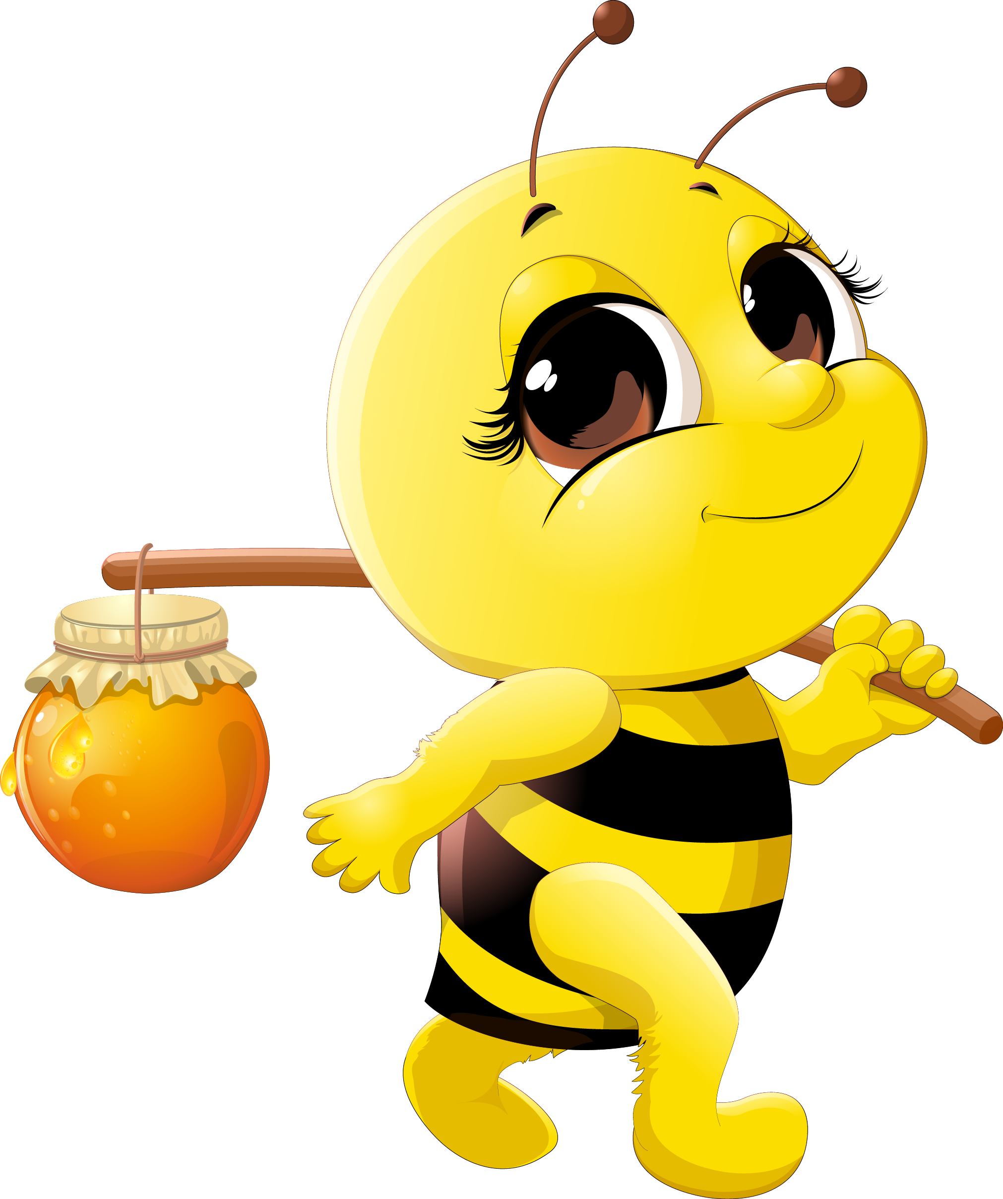 Honey clipart honey bee.