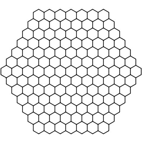 Honeycomb clipart outline.