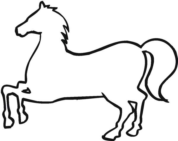horse clipart black and white printable
