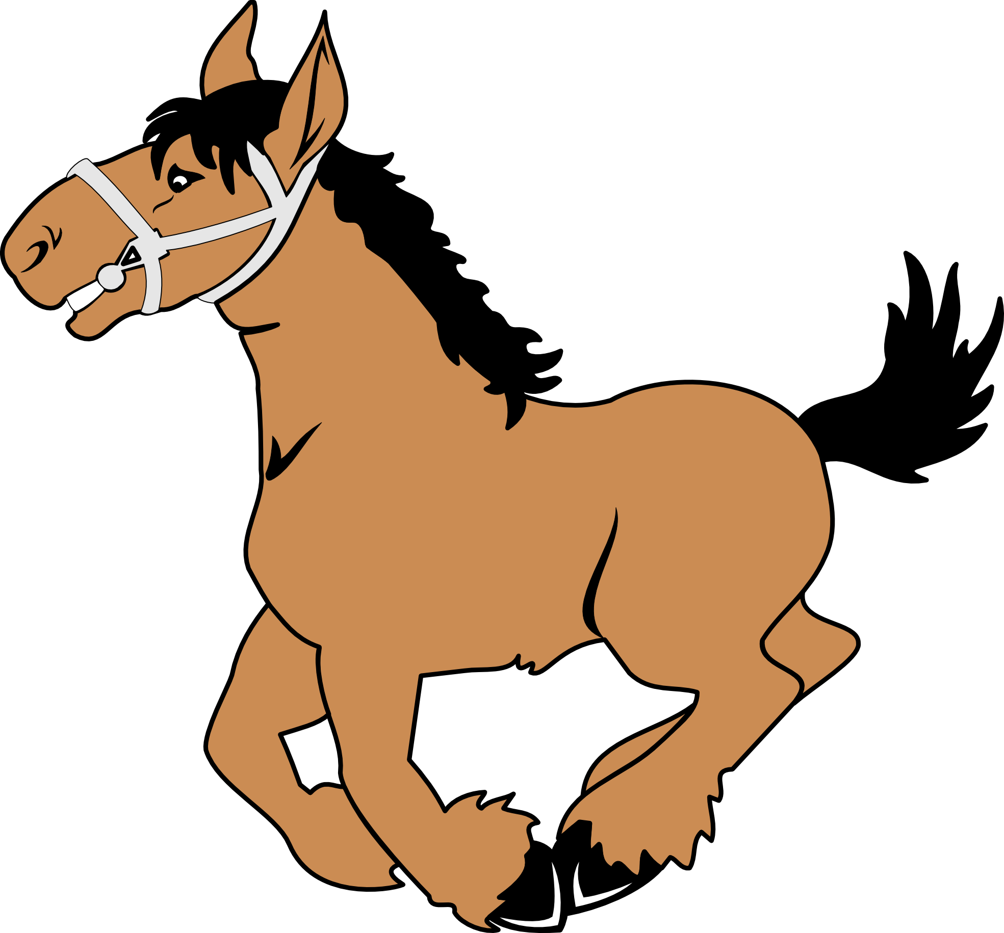horse clipart black and white vector