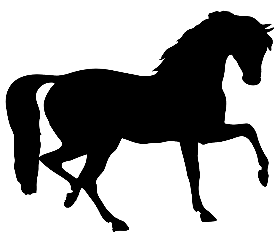 pony clipart silhouette