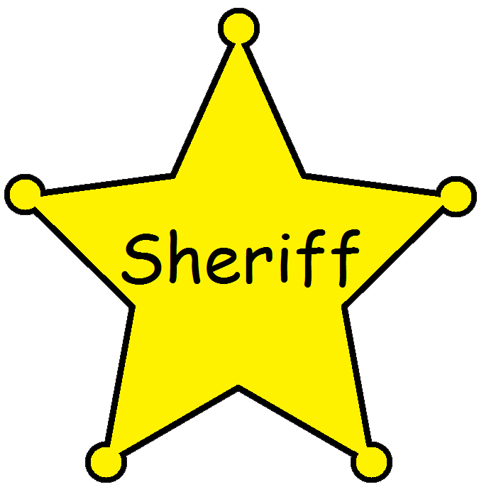 western clipart sheriff badge