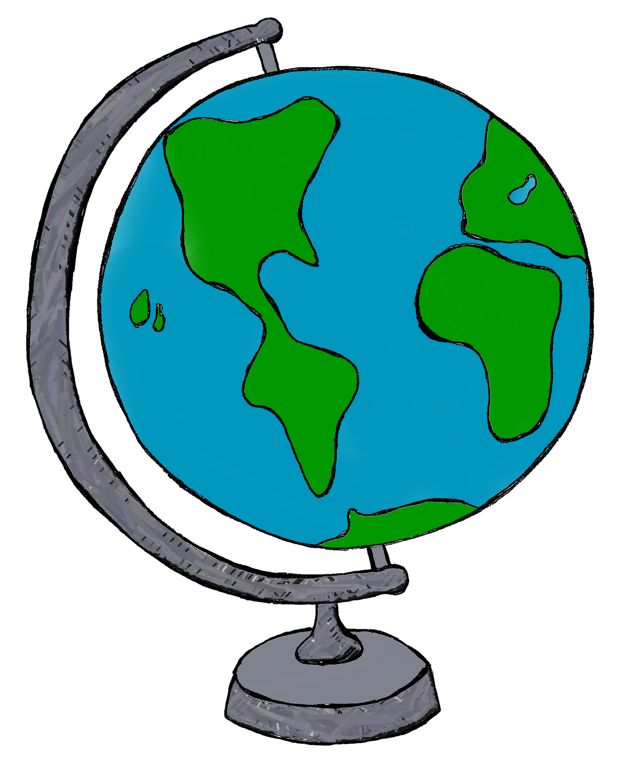 travel clipart globe
